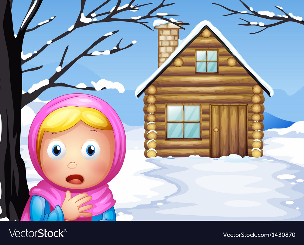 A little girl in the woods vector | Price: 1 Credit (USD $1)