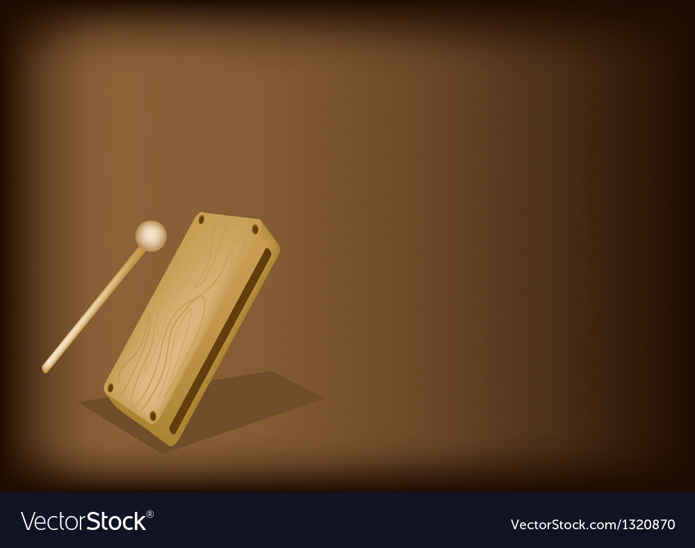 A musical wood block on dark brown background vector   Price: 1 Credit (USD $1)