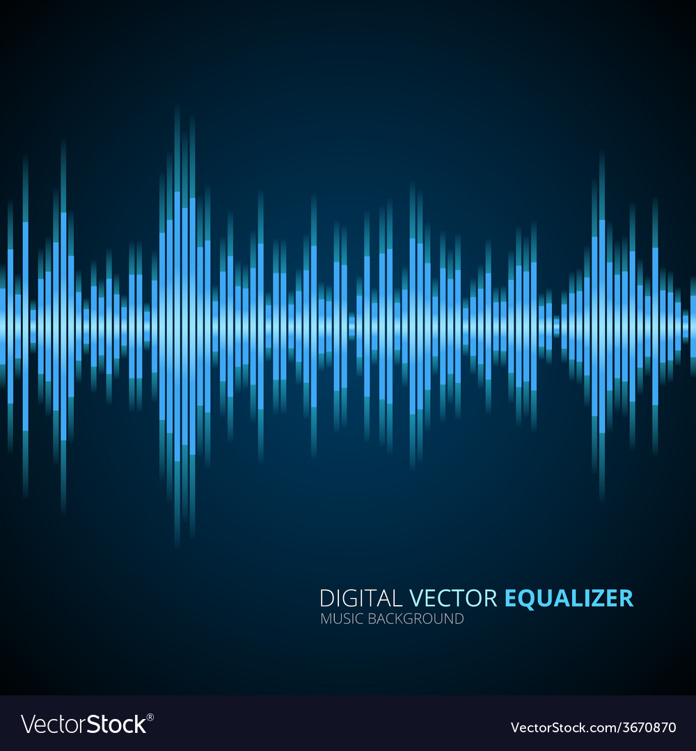 Abstract equalizer background blue vector | Price: 1 Credit (USD $1)