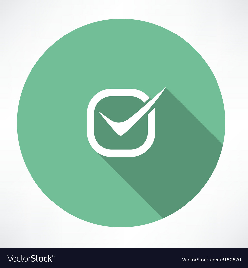 Checkmark icon vector | Price: 1 Credit (USD $1)