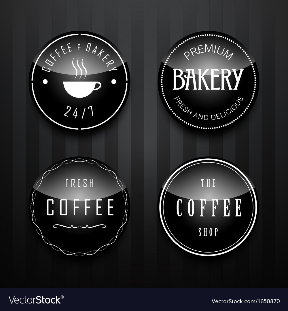 Coffee badge vector | Price: 1 Credit (USD $1)