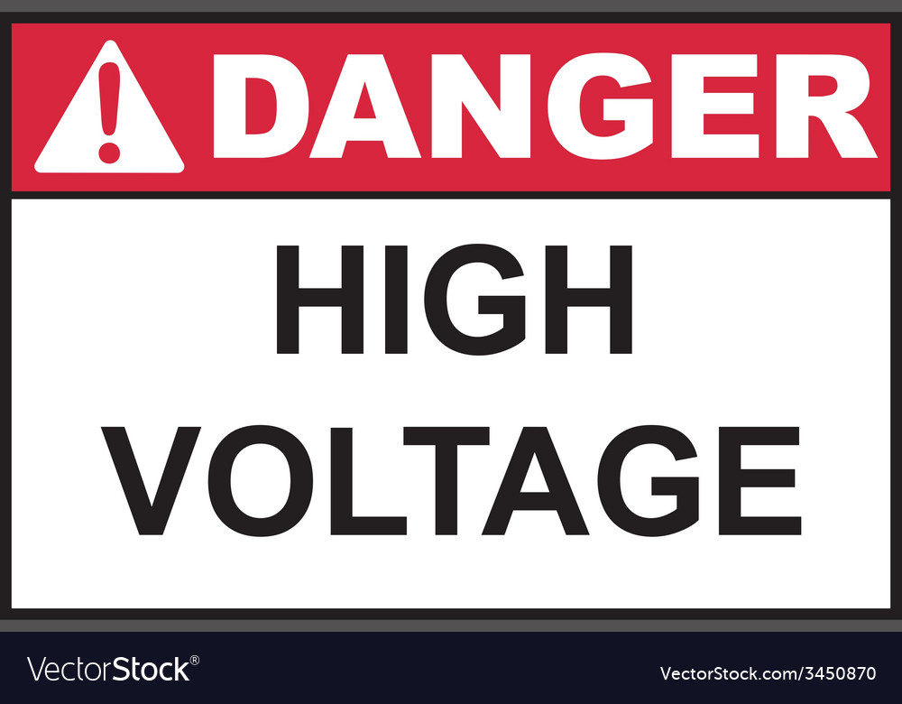 Danger high voltage sign vector | Price: 1 Credit (USD $1)