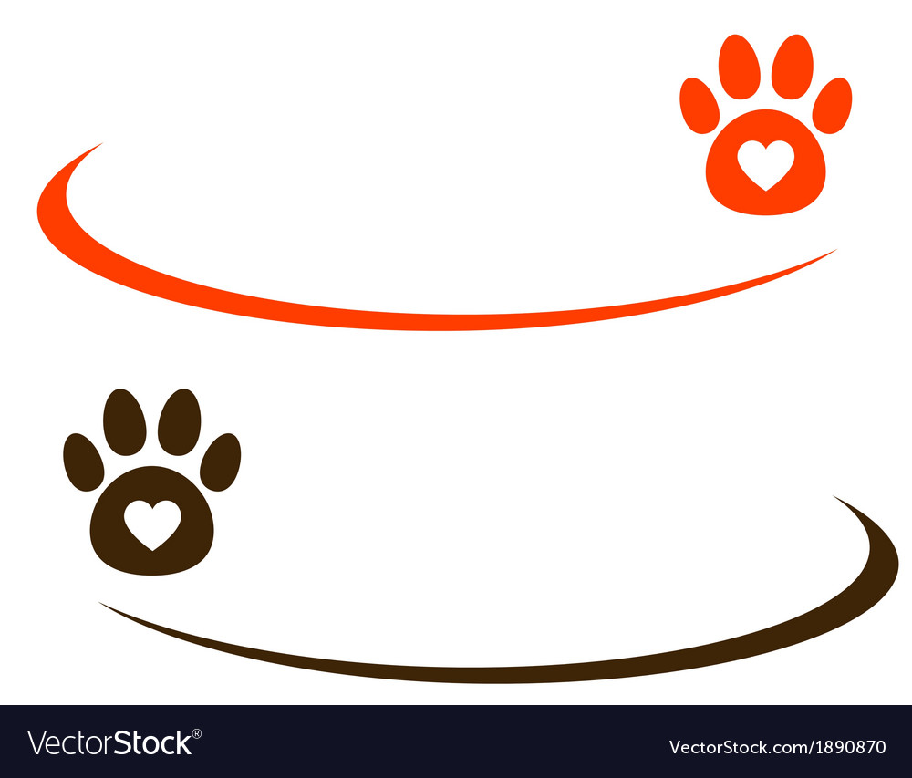 Decorative background with paw vector