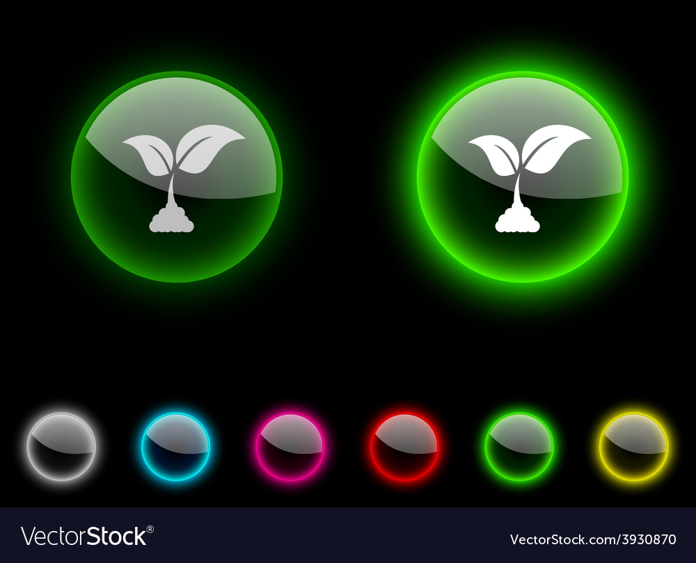 Ecology button vector | Price: 1 Credit (USD $1)