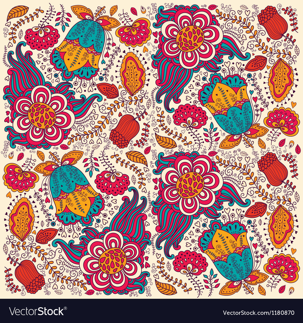 Floral print vector | Price: 3 Credit (USD $3)