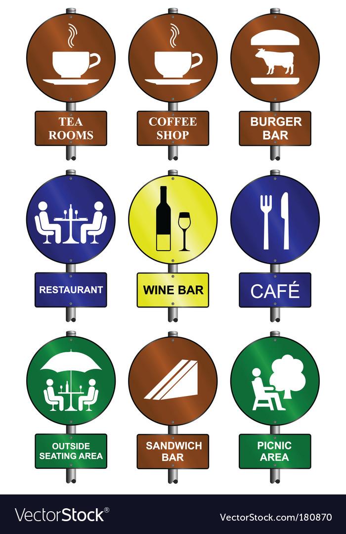 Food drink signs vector   Price: 1 Credit (USD $1)