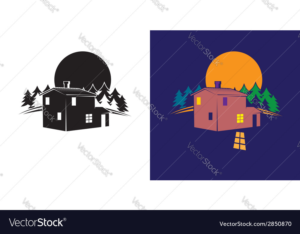 Forest house vector | Price: 1 Credit (USD $1)