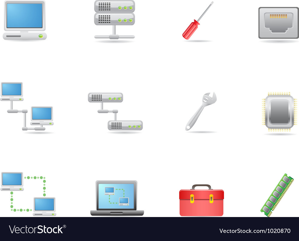 Hardware and connections icon vector | Price: 1 Credit (USD $1)