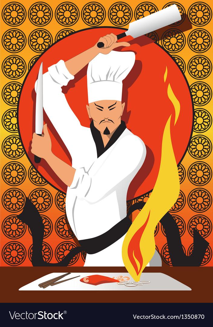 Hibachi chef vector   Price: 3 Credit (USD $3)