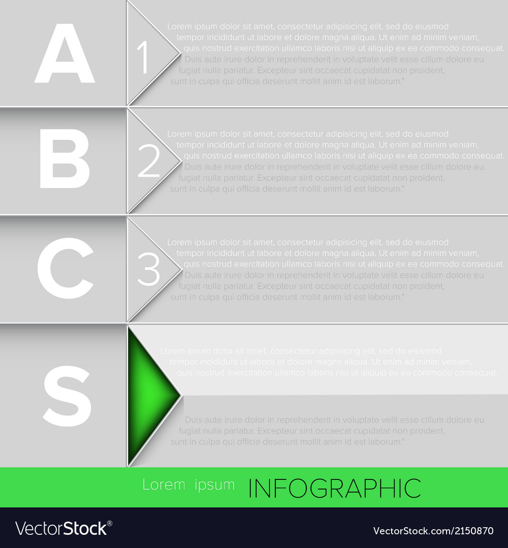 Infographic green button vector | Price: 1 Credit (USD $1)