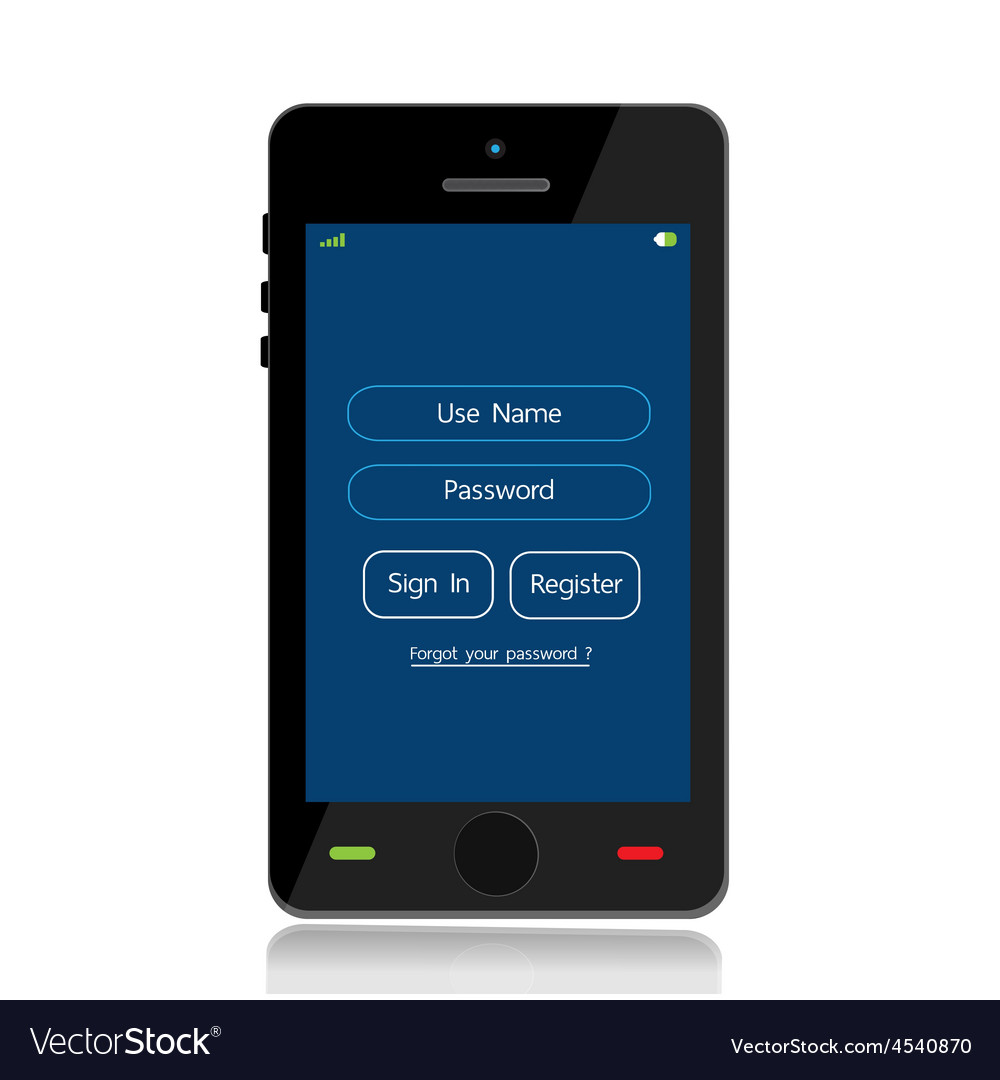 Login mobile interface vector | Price: 1 Credit (USD $1)