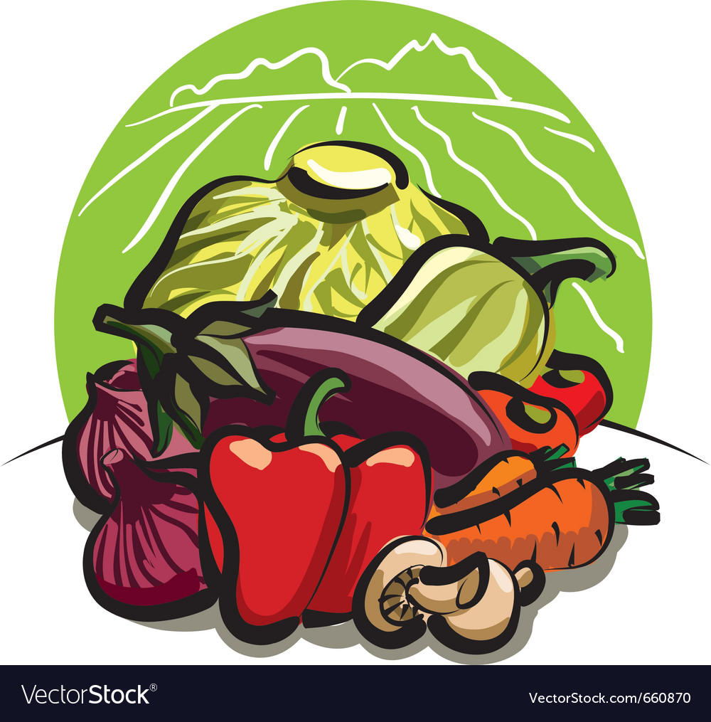Vegetable harvest vector | Price: 3 Credit (USD $3)