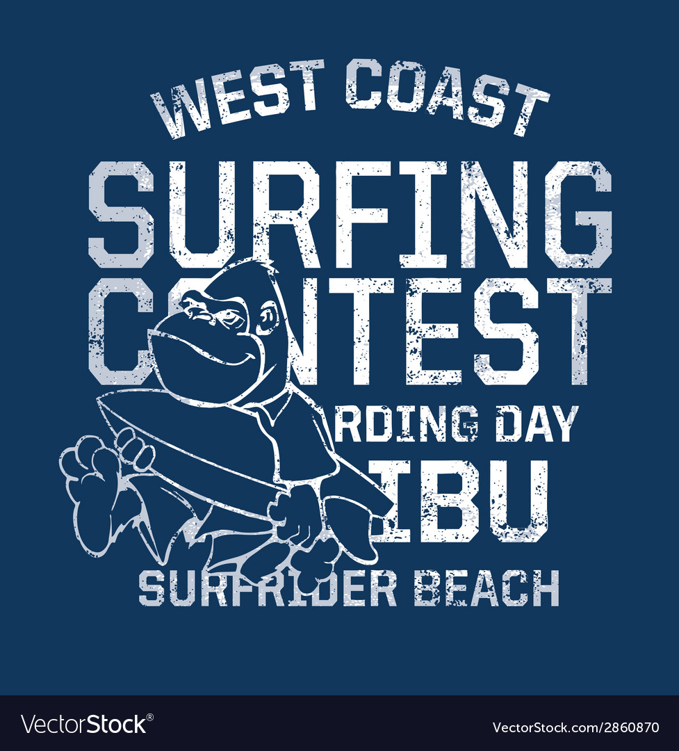West coast surfing contest vector | Price: 1 Credit (USD $1)