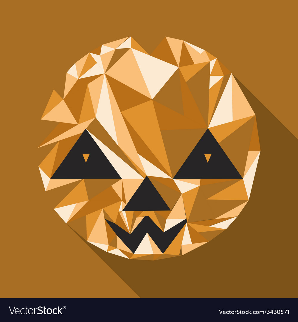 Abstract cute halloween character pumpkin vector | Price: 1 Credit (USD $1)
