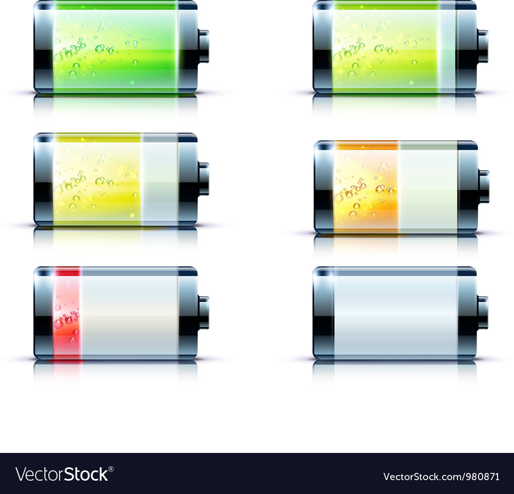 Battery level indicators vector | Price: 3 Credit (USD $3)
