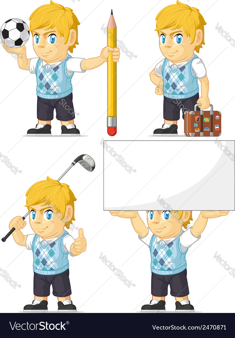 Blonde rich boy customizable mascot 5 vector | Price: 1 Credit (USD $1)