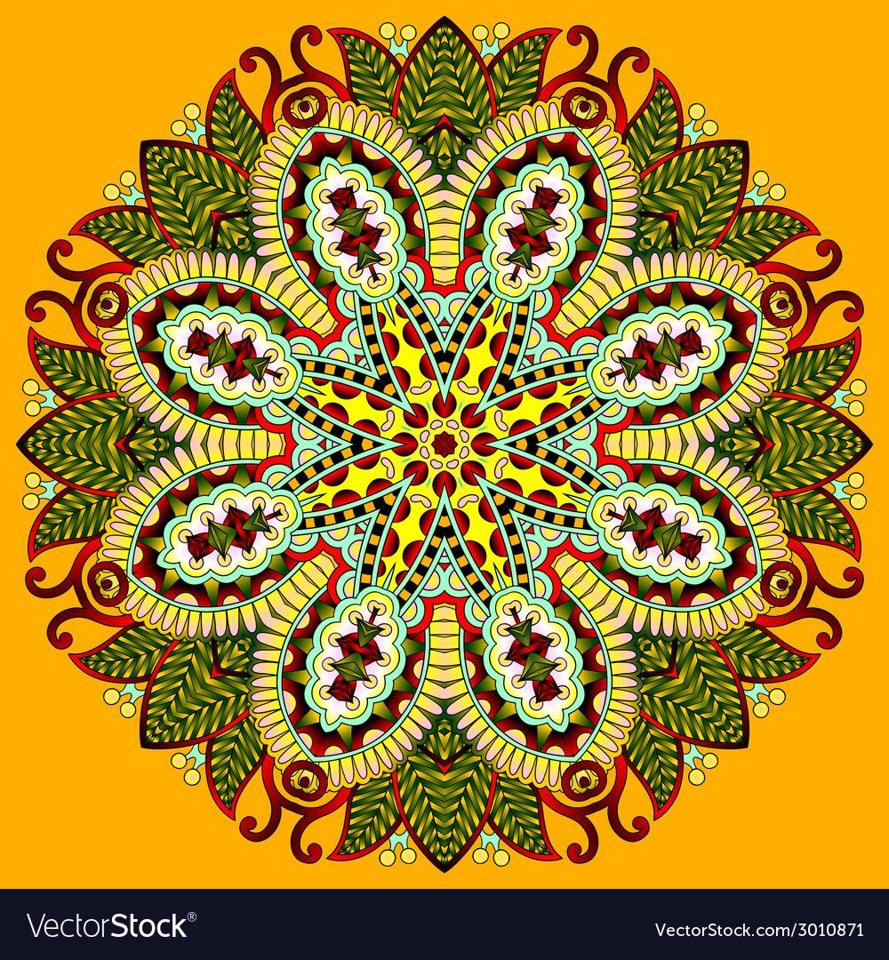 Circle lace ornament round ornamental geometric vector | Price: 1 Credit (USD $1)