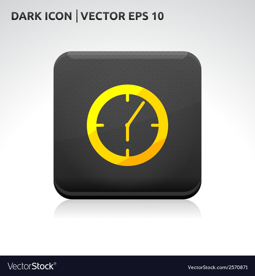 Clock icon gold vector   Price: 1 Credit (USD $1)