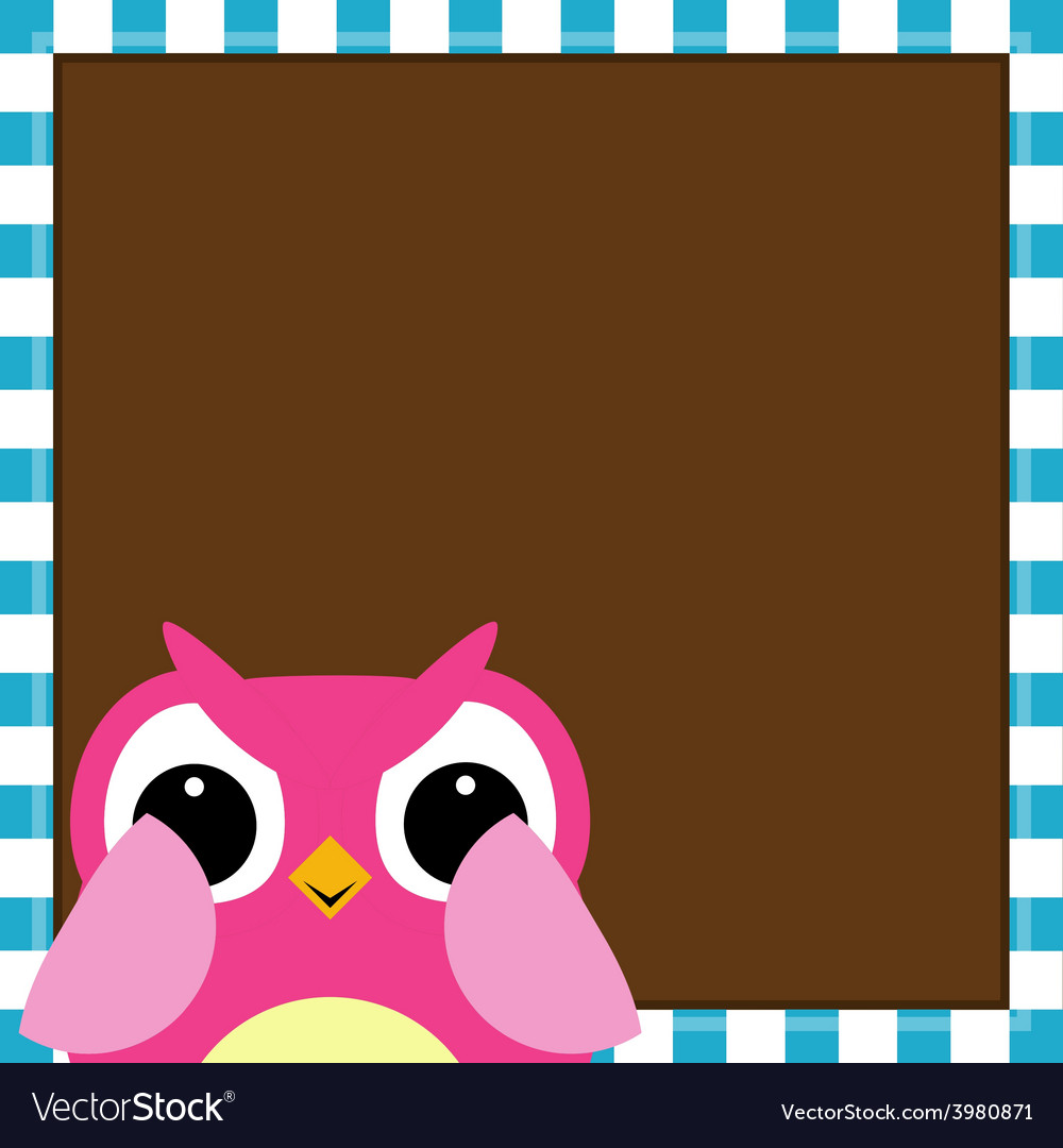 Cute owl baby girl arrival card vector | Price: 1 Credit (USD $1)