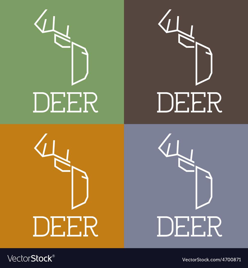 Deer monogram vector | Price: 1 Credit (USD $1)