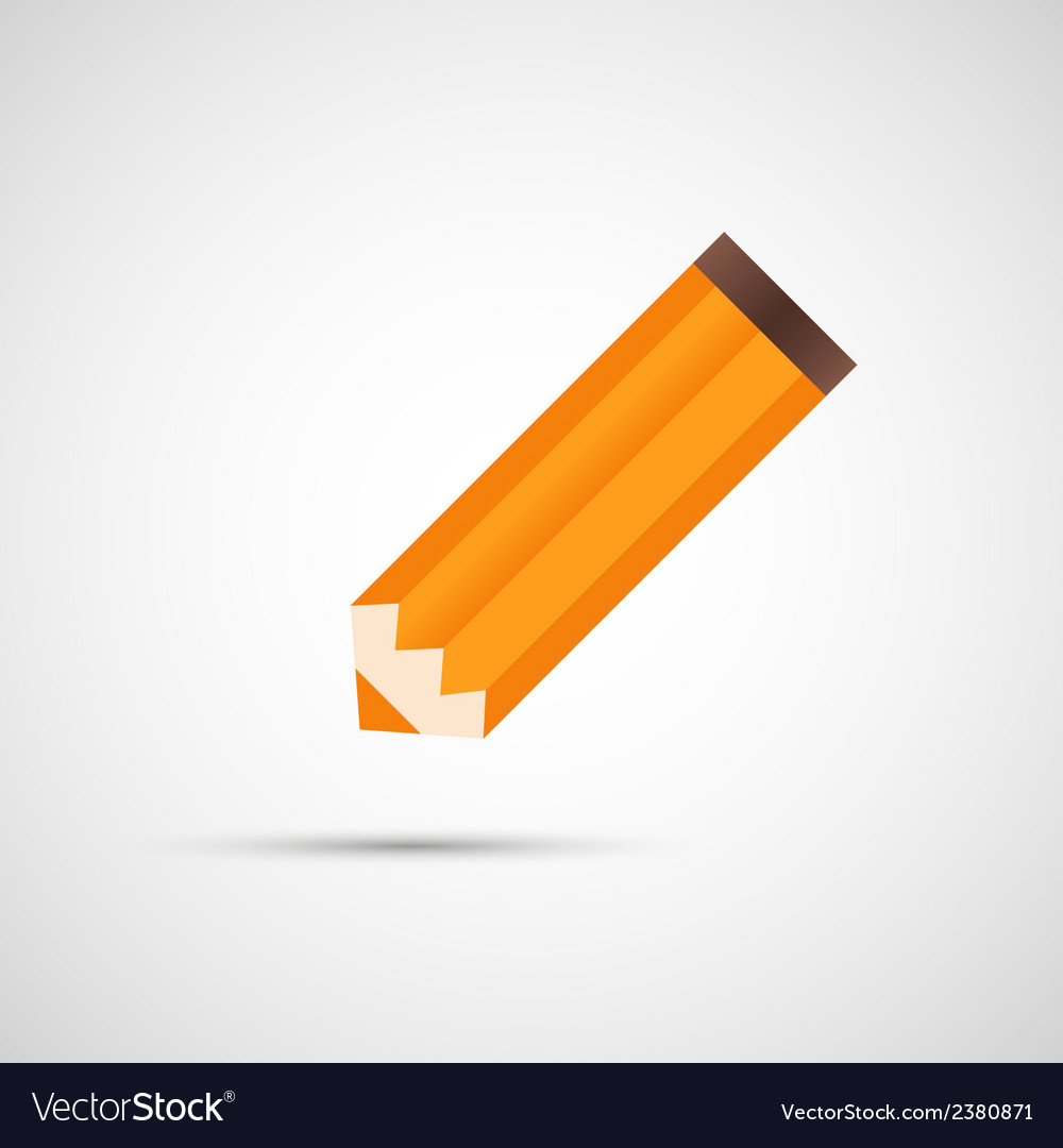 Design pencil with shadow eps vector | Price: 1 Credit (USD $1)