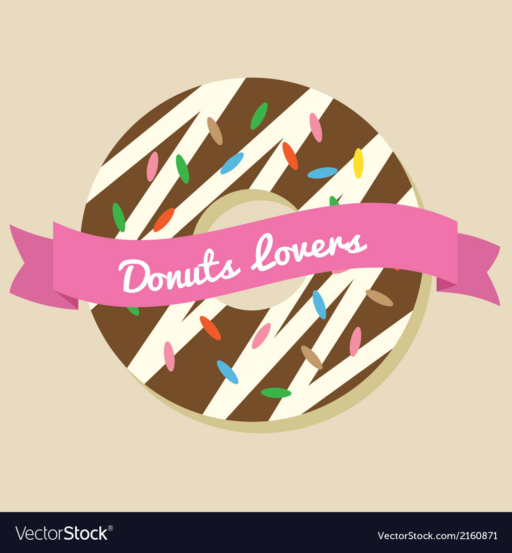 Donuts lover vector | Price: 1 Credit (USD $1)