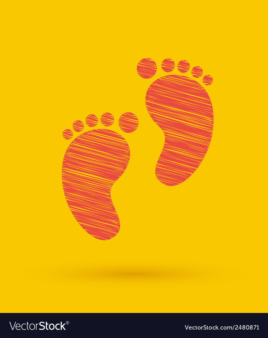 Footprint icon vector | Price: 1 Credit (USD $1)