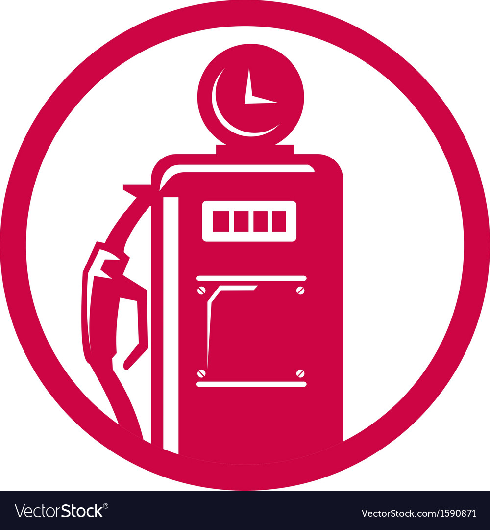 Gasoline pump filling station vector | Price: 1 Credit (USD $1)