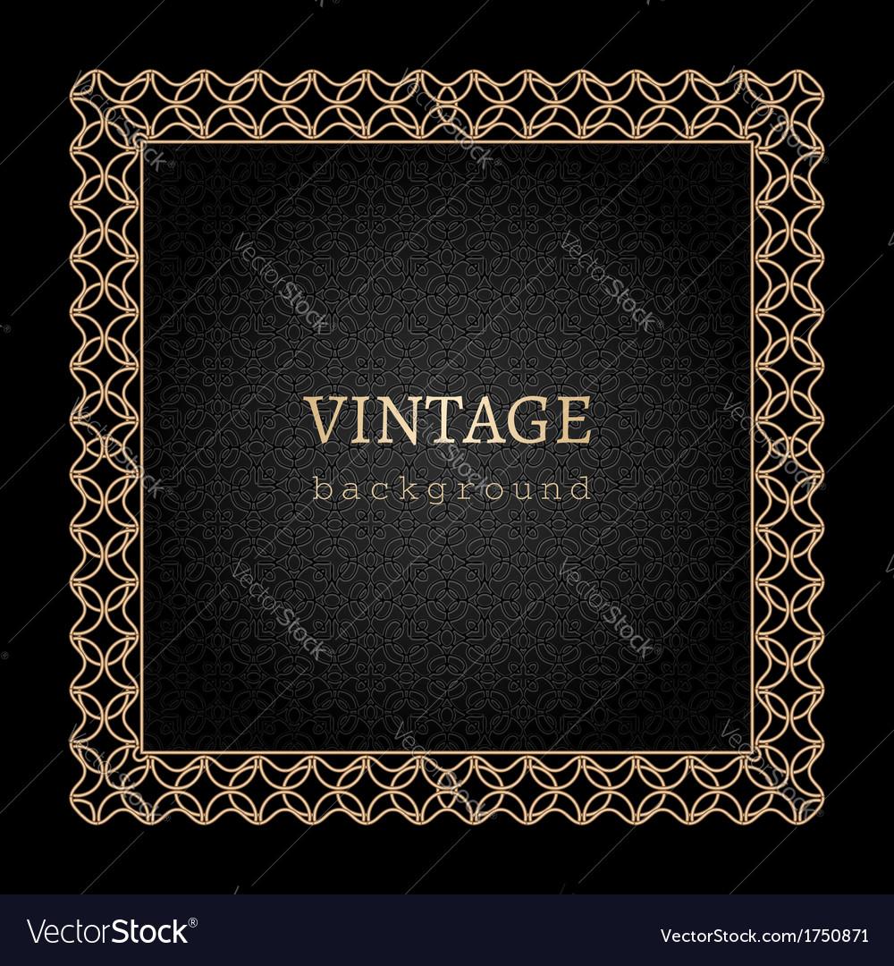 Gold frame on black vector   Price: 1 Credit (USD $1)