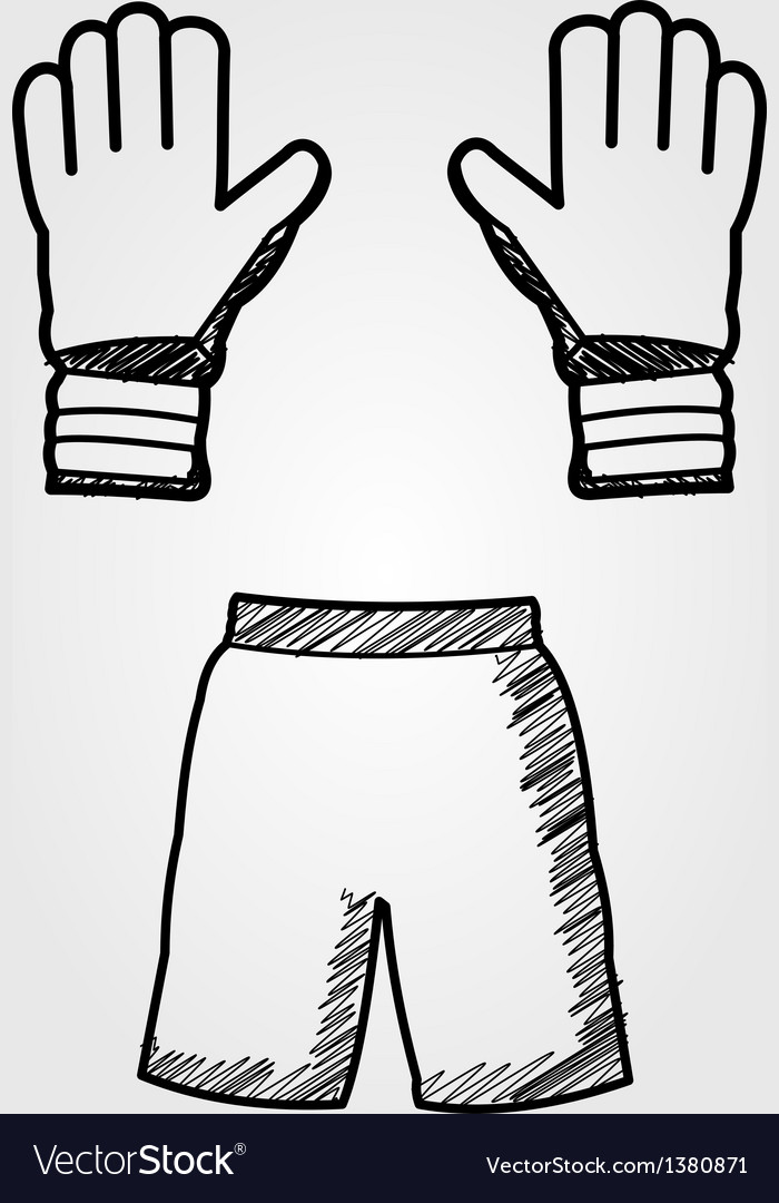 Hand drawn soccer equipment vector | Price: 1 Credit (USD $1)
