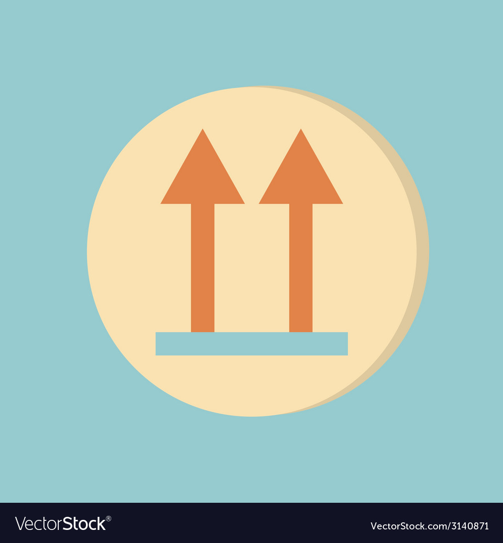Logistic packing arrow up sign vector | Price: 1 Credit (USD $1)