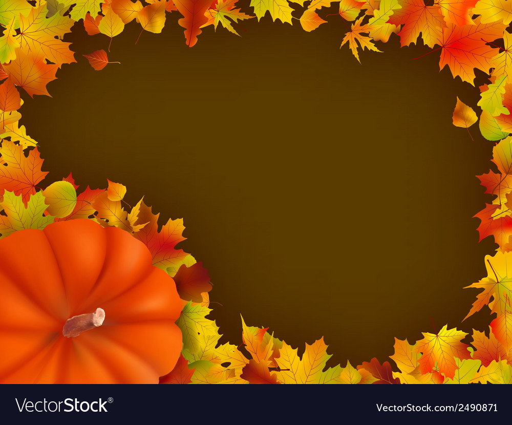 Thanksgiving holiday frame eps 8 vector | Price: 1 Credit (USD $1)
