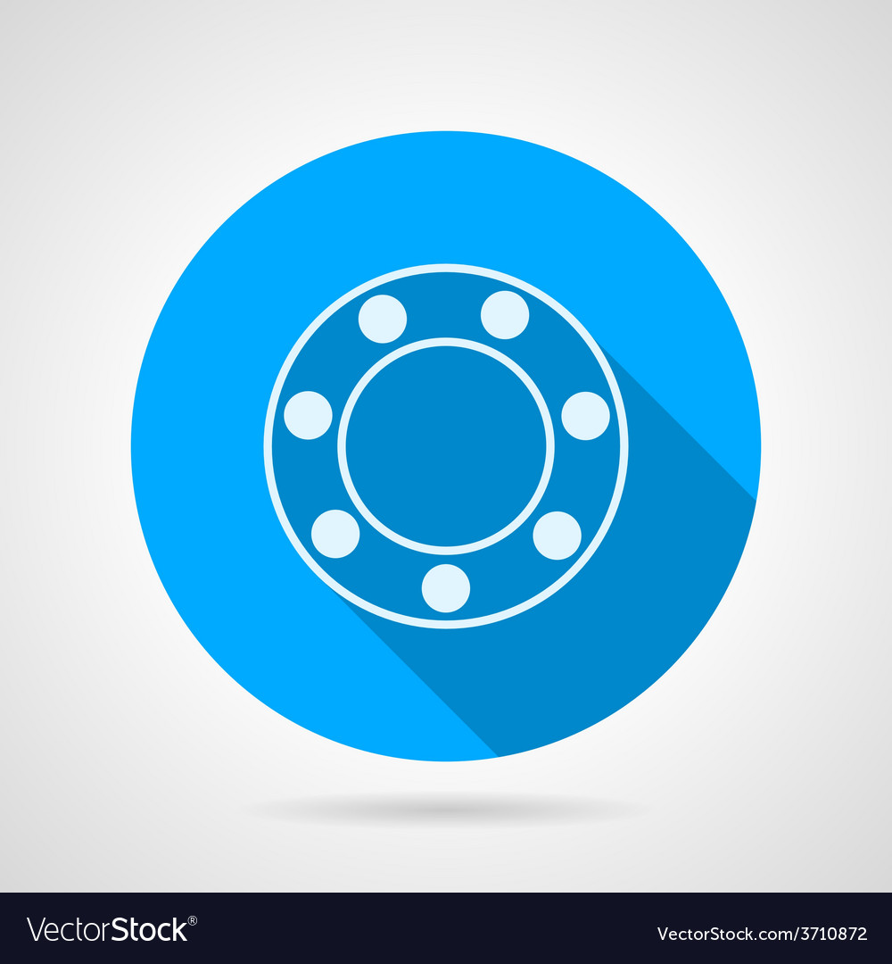 Ball bearing flat icon vector | Price: 1 Credit (USD $1)