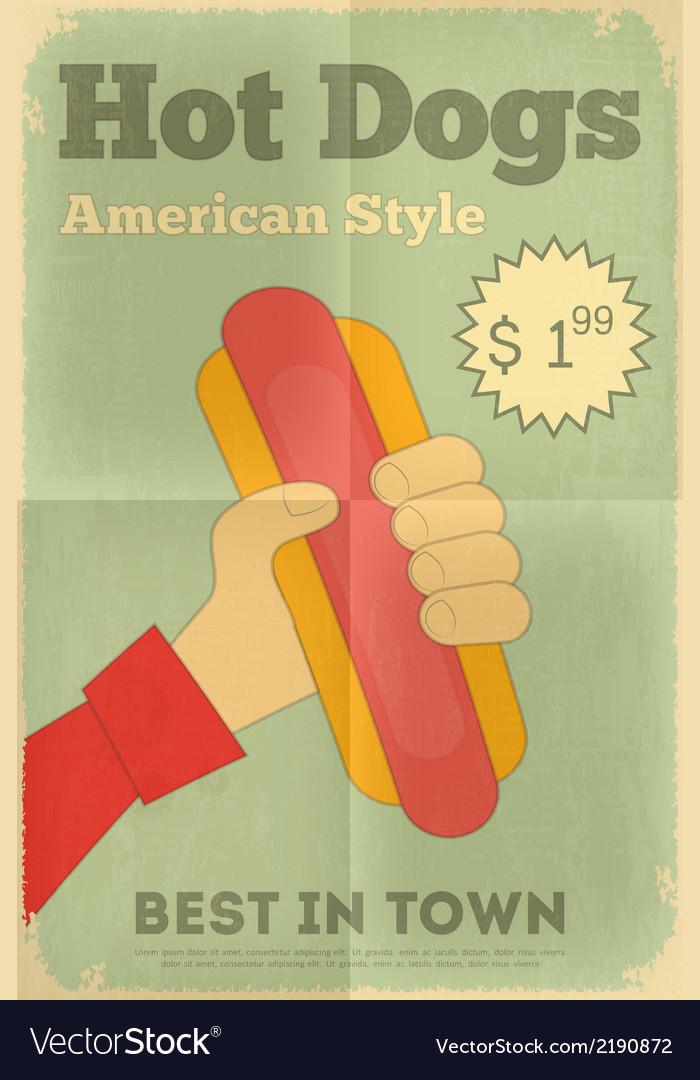 Big hot dog vector | Price: 1 Credit (USD $1)