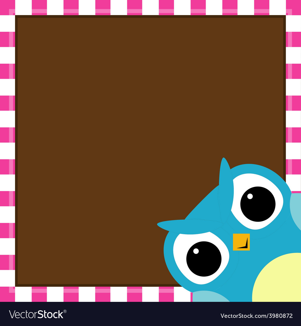 Cute owl baby boy arrival card vector | Price: 1 Credit (USD $1)