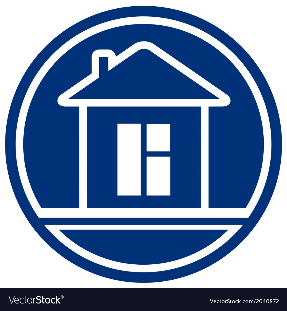 Icon with house and window interior symbol vector | Price: 1 Credit (USD $1)