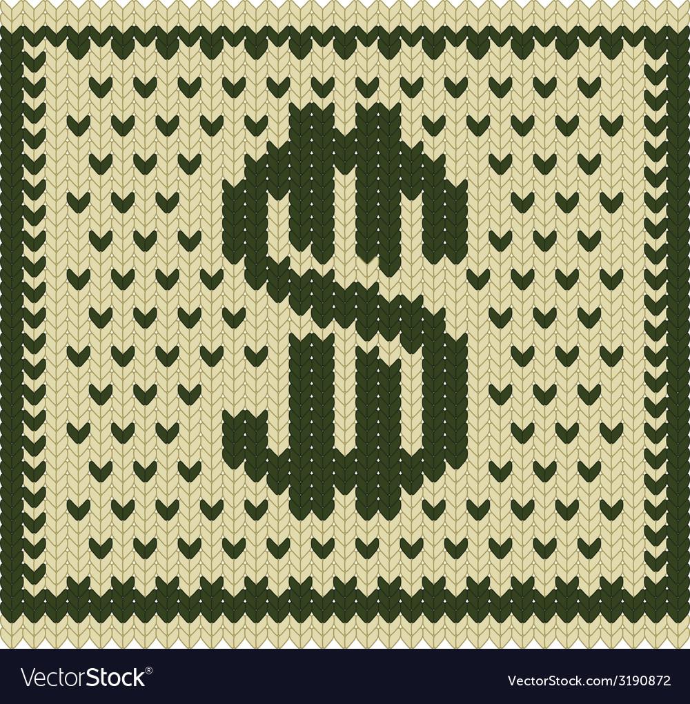 Knitted dollar scheme vector   Price: 1 Credit (USD $1)
