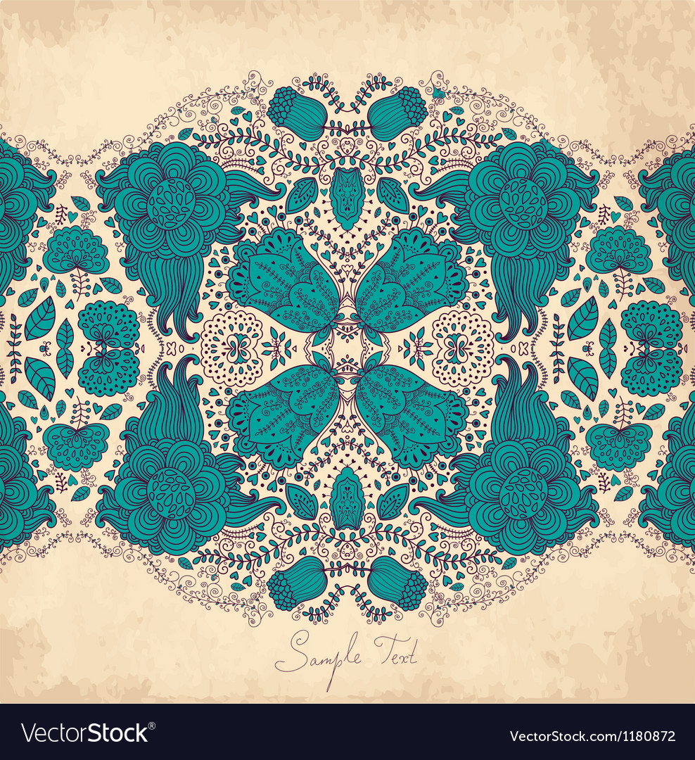 Mirrored floral design vector | Price: 1 Credit (USD $1)