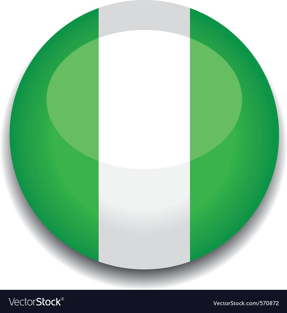 Nigeria flag vector | Price: 1 Credit (USD $1)