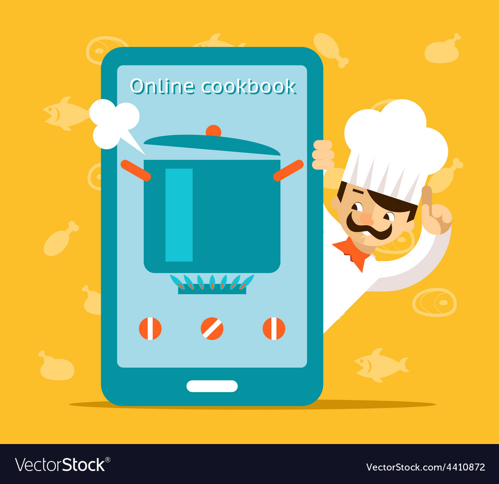 Online cookbook search for recipes in web vector | Price: 1 Credit (USD $1)