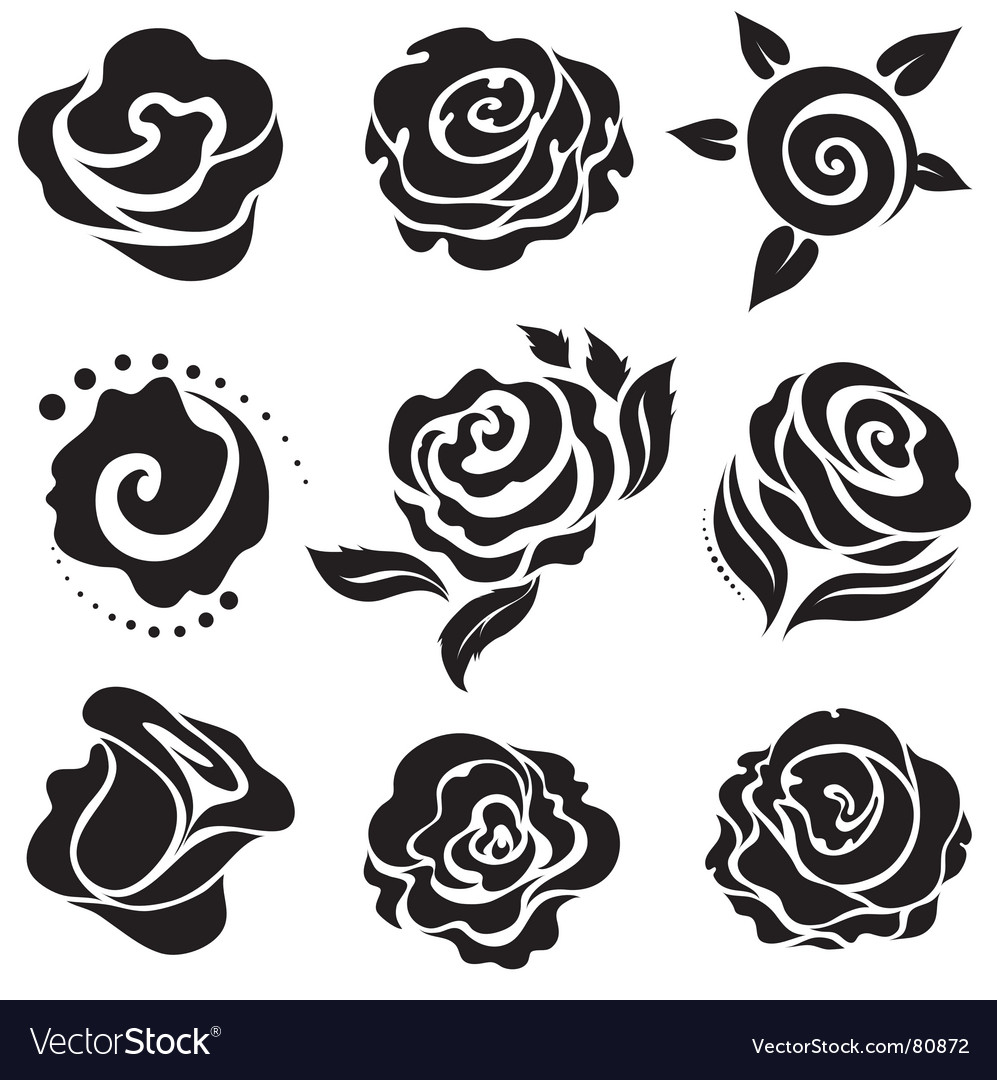 Rose design elements vector | Price: 1 Credit (USD $1)