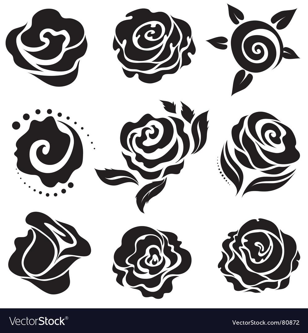 Rose design elements vector | Price: 1 Credit (USD $1)
