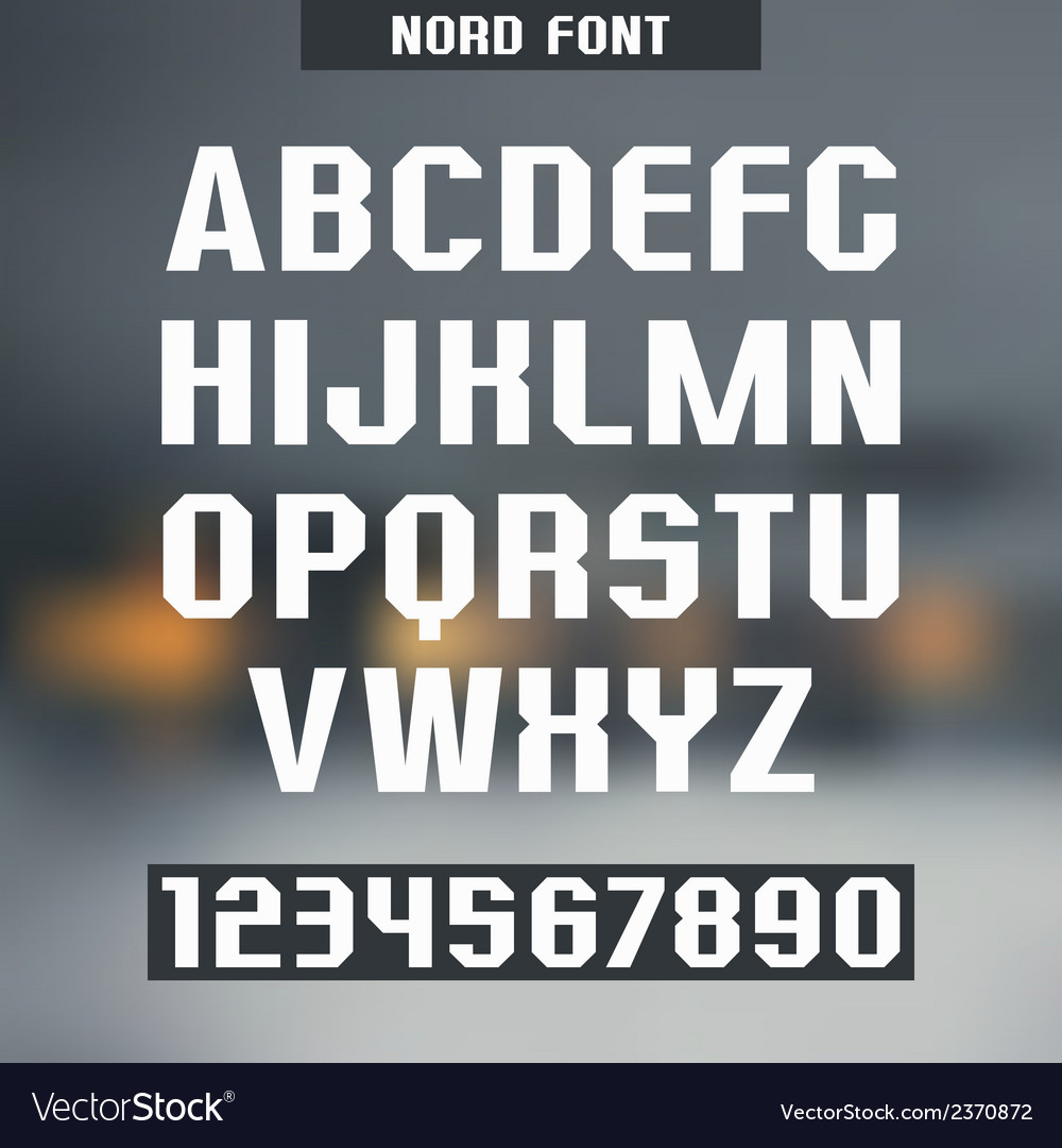 Sans serif font nord vector | Price: 1 Credit (USD $1)