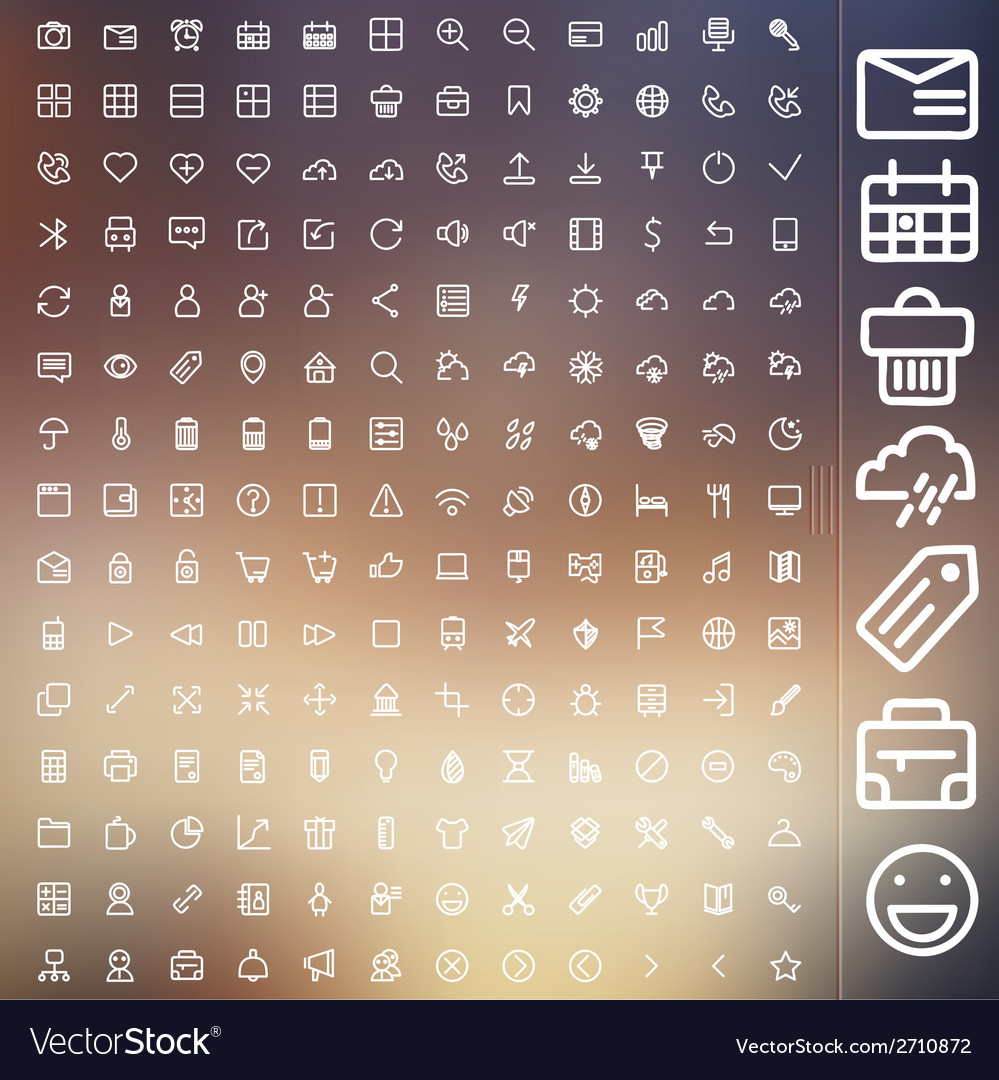 Set of icons for web and user interface design vector | Price: 1 Credit (USD $1)