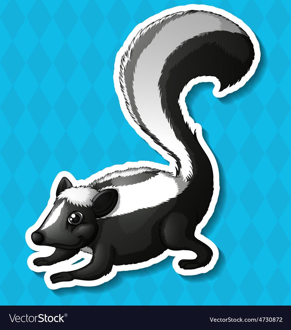 Skunk vector | Price: 1 Credit (USD $1)