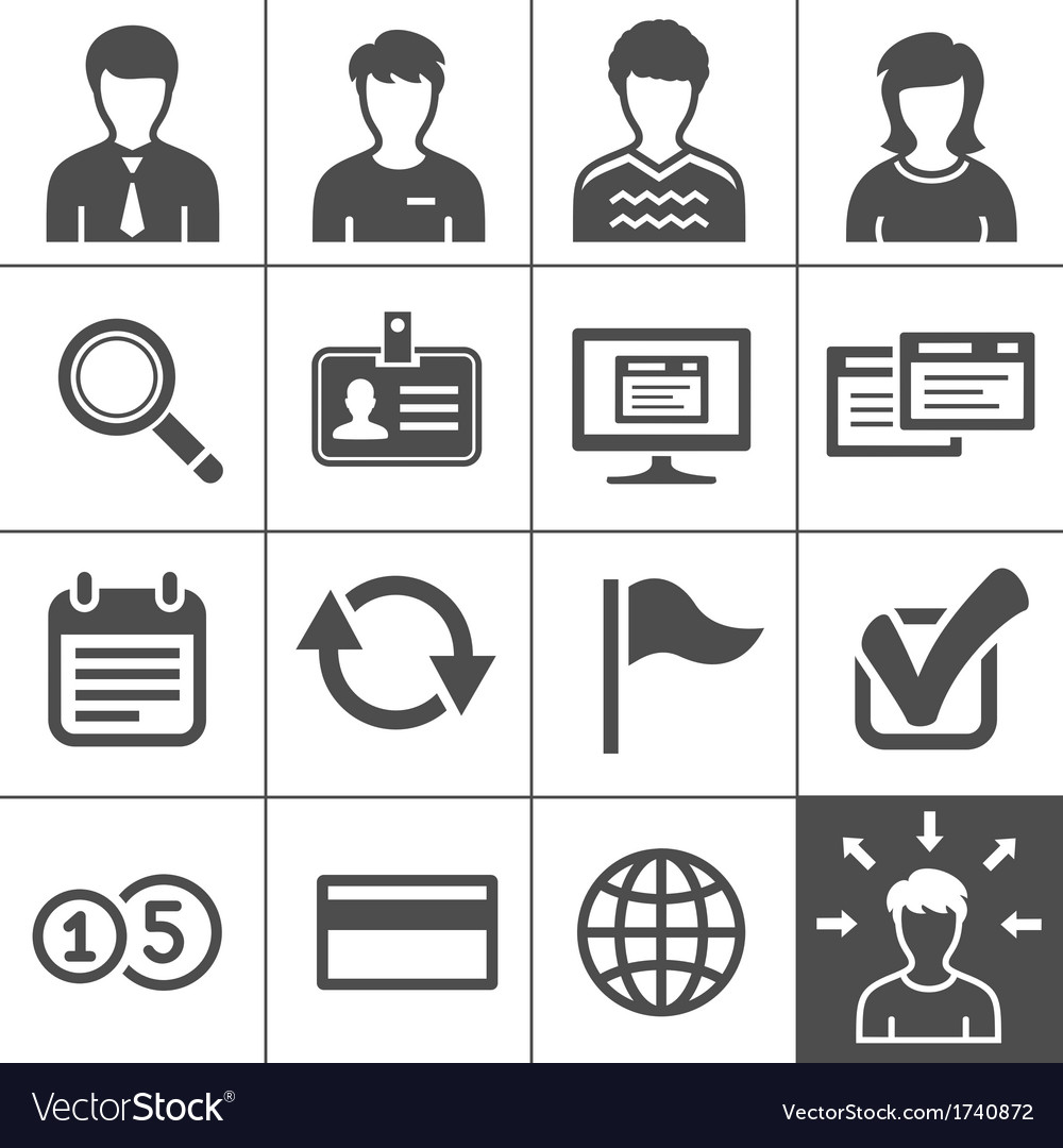 Telecommuting icons set - simplus series vector | Price: 1 Credit (USD $1)