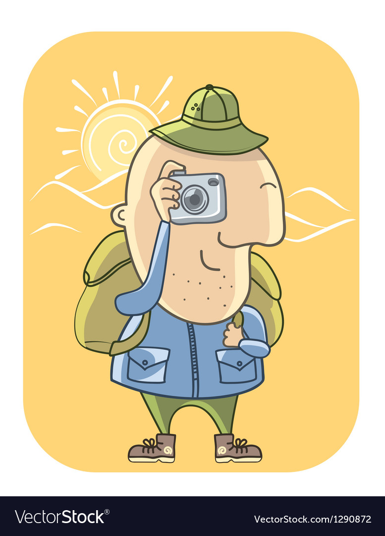 Tourist with camera vector   Price: 3 Credit (USD $3)