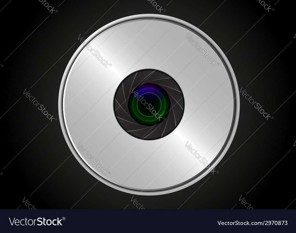 Camera lens shutter vector | Price: 1 Credit (USD $1)