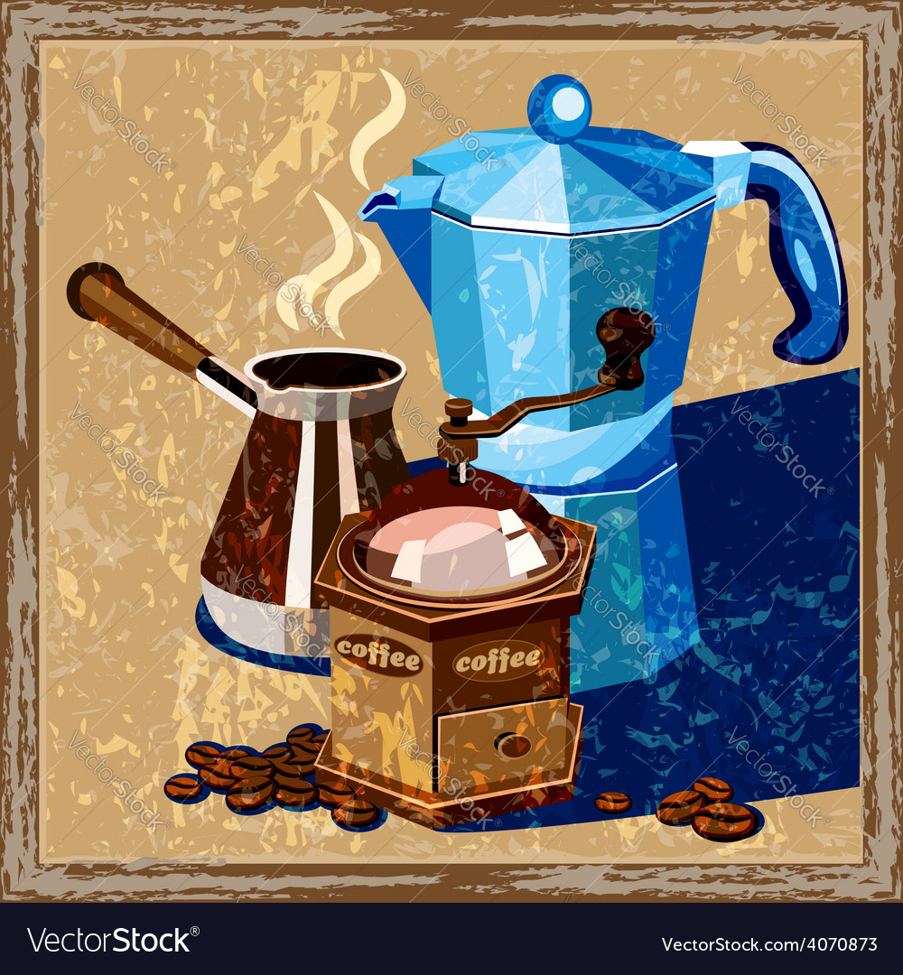 Classic coffee old poster vector | Price: 3 Credit (USD $3)