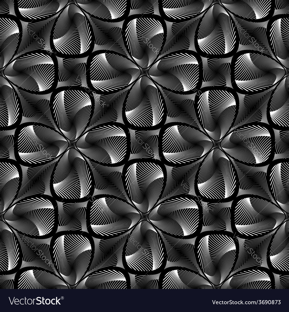 Design seamless monochrome twirl background vector | Price: 1 Credit (USD $1)